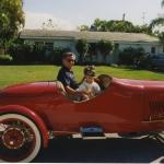N&M red car
